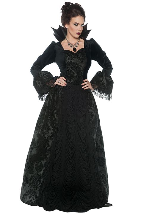 gothic costumes adult sexy gothic halloween costume gothic evil queen adult costume purecostumes com