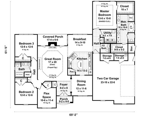 Exposed Basement House Plans by Ranch Style House Plans With Basements Ranch House Plans