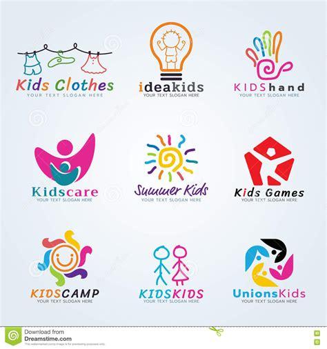 kids logo design stock illustration image of childhood ca 231 oa a cenografia criativa da arte do conceito do vetor