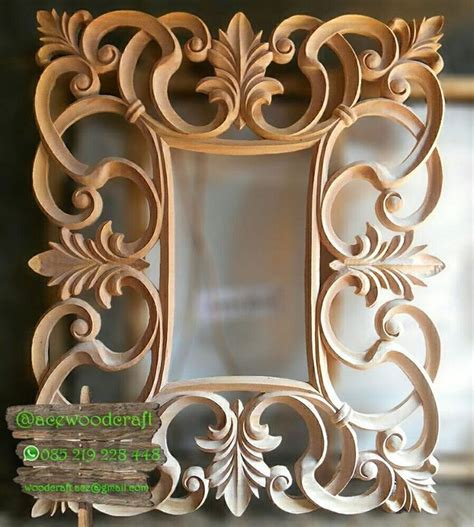 Wood Frame Poster Hiasan Dinding 27 mirror frame cermin hias ulir mentah untuk konfirmasi