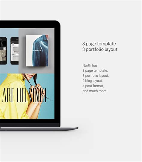 themeforest north theme north creative bold modern grid portfolio theme