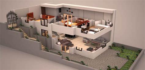 Appartement Plan 3d by Duplex 3d Plan 3d Plans House Plans