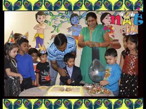 krishna theme song little krishna themed birthday party by nat youtube