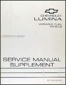 service manuals schematics 1993 chevrolet lumina apv regenerative braking 1993 chevy lumina car variable fuel ethanol repair shop manual supplement