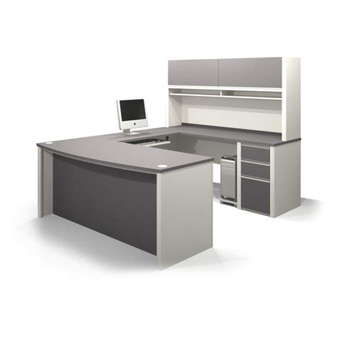 grey desk with hutch gray and white painted wooden working desk and book