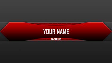 free youtube banner templates helmar designs