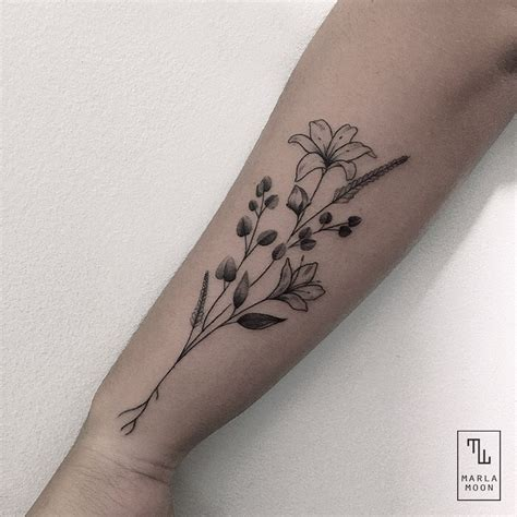 moon flower tattoo beautiful flower best ideas gallery