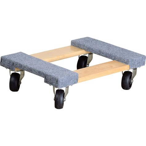 ironton carpeted mover s dolly 1 000 lb capacity 18in
