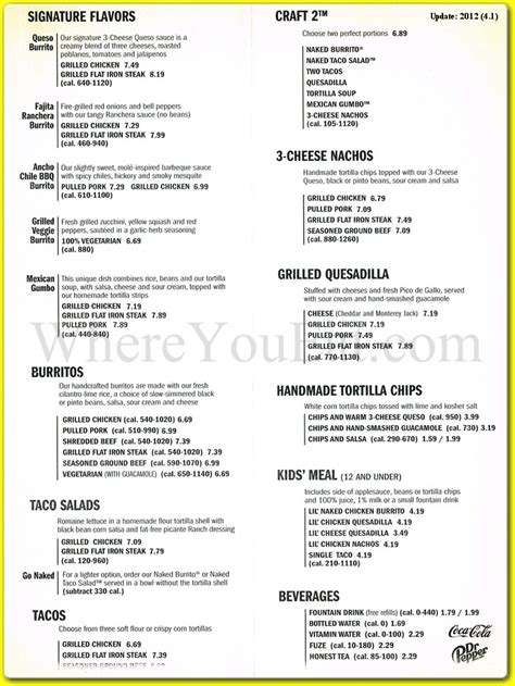 qdoba printable catering menu qdoba mexican restaurant in new springville staten island