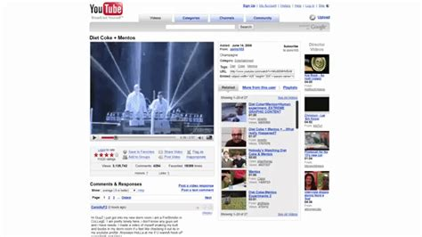 youtube layout evolution the evolution of youtube s website layout since it was