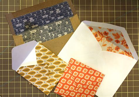 patterned lining paper how to line an envelope with paper scraps