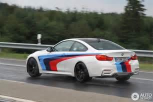 Bmw M Stripes Bmw M4 With M Stripes Spotted In Germany Autoevolution
