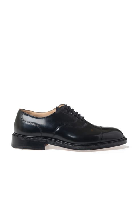 church s black churchs patent leather lace up shoes for