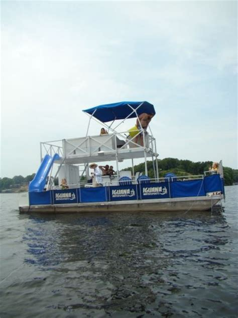 lake of ozarks boat rental close to party cove party barge style pontoon deck boat magazine