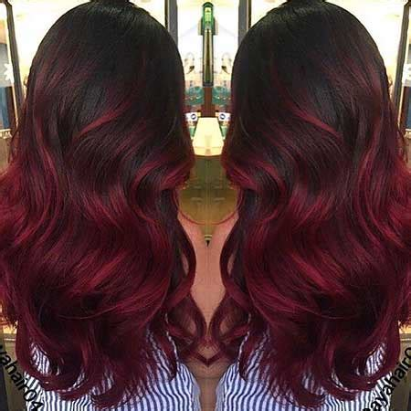 25+ burgundy red hair color ombre style