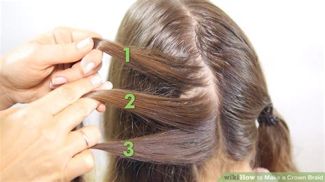 french crown braid 3 new ways to add bobby pins to your 3 ways to make a crown braid wikihow