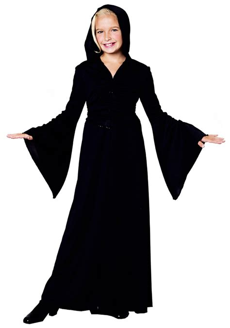 themes in black robe girls black robe halloween costumes