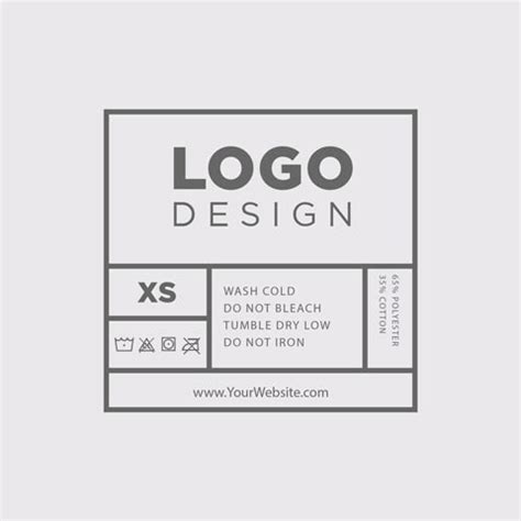 Inside Tag Template Custom Inside Shirt Tags Real Thread Clothing Label Design Templates