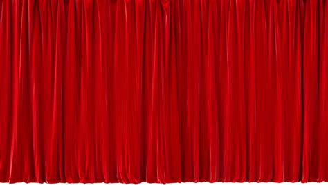 quality stage drapery red stage curtain high quality computer animation stock