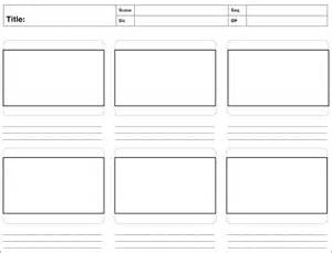 storyboard template word storyboard template free word pdf psd format