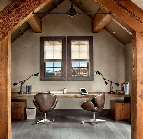 rustic home office natural allure 25 home offices that celebrate the charm