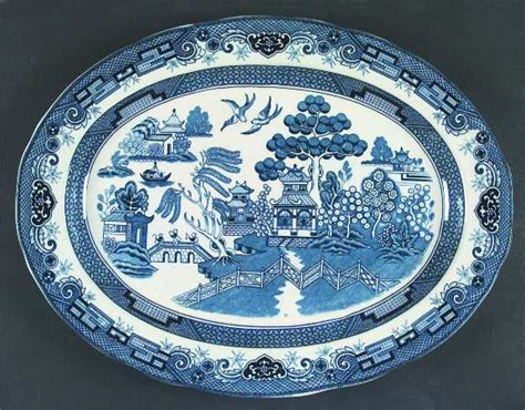 blue heritage pattern dishes heritage mint blue willow at replacements ltd