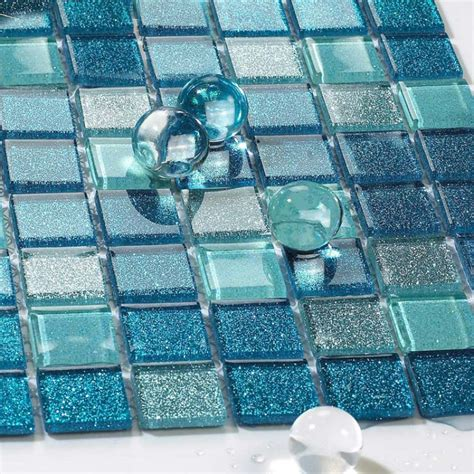 glass tile for bathrooms ideas sea glass tile backsplash ideas bathroom mosaic mirror