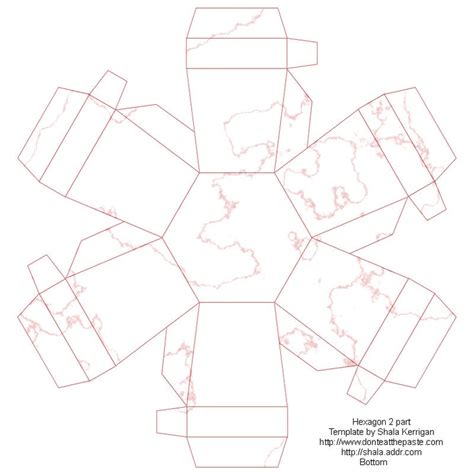 hexagon box free printable box crafts for teens and