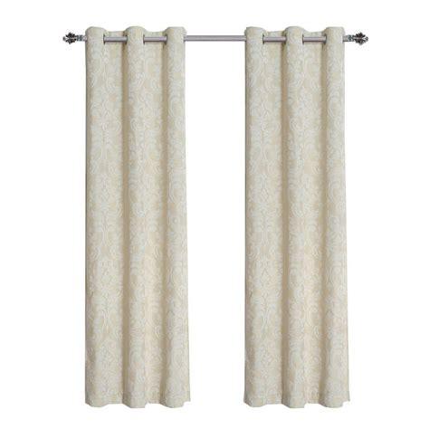 linen curtain panels 96 window elements elinor linen blend jacquard 96 in l