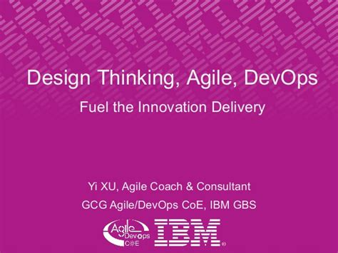 design thinking coach design thinking agile devops fuel the innovation delivery