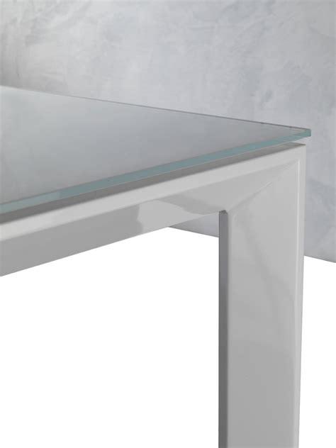 tavoli di vetro per soggiorno tavolo in vetro allungabile harvey per cucina o soggiorno
