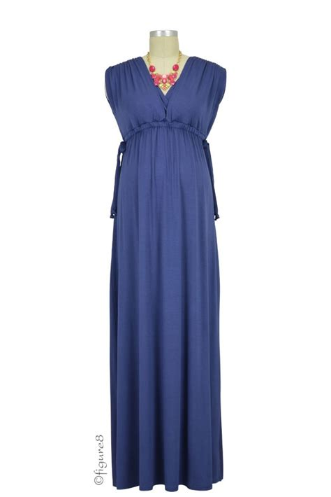 Maxi Dress Maternity Baju Maternity Nursing Maxi Dress In Blueberry By