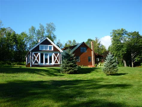 A Frame Cabin Additions by Timber Frame Addition To A Log Cabin In Vermont