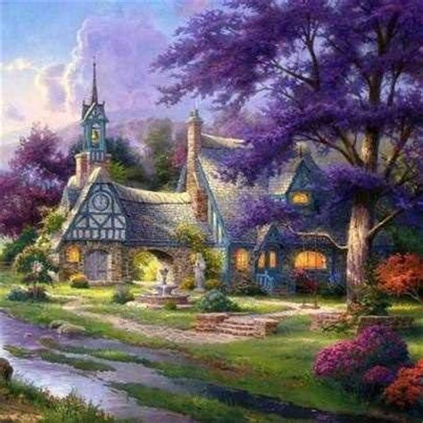 Kinkade Clocktower Cottage by 17 Best Images About Kinkade On The