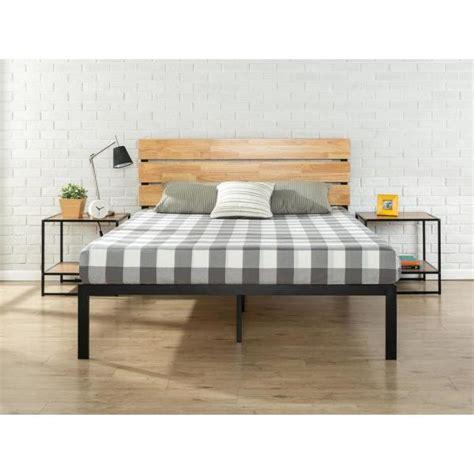 zinus paul metal wood platform bed  wood slat