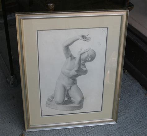 the draftsman drawing a reclining nude set of 5 drawings of academic nudes at 1stdibs