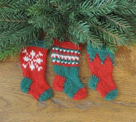 free knitting pattern for large christmas stocking nordic christmas stocking ornament set knitting patterns