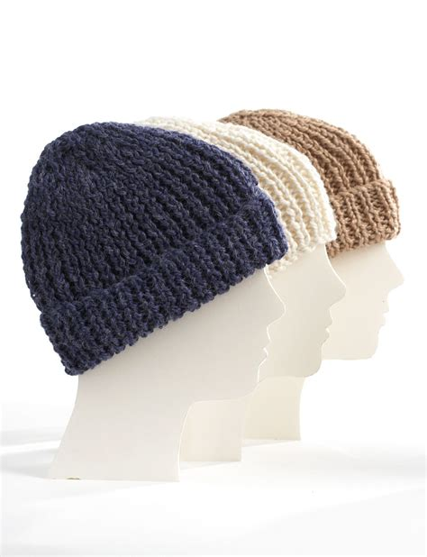simple toque knitting pattern bernat knit family toques knit pattern yarnspirations