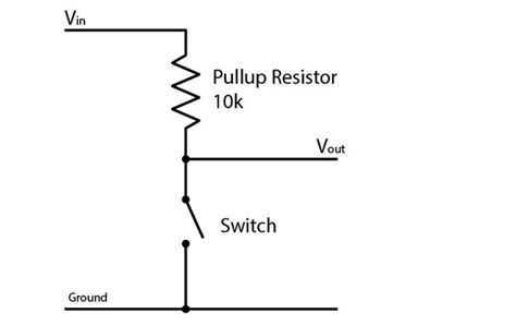 pull up resistor wiring diagram pullup pulldown midihacker