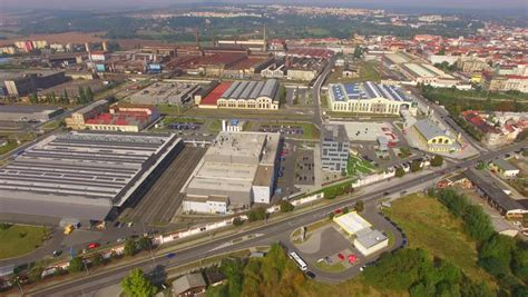 factory sky view sky view industrial buildings on manufacturing factory