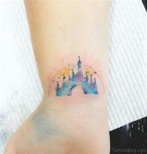 small disney tattoo 8 innovative castle wrist tattoos