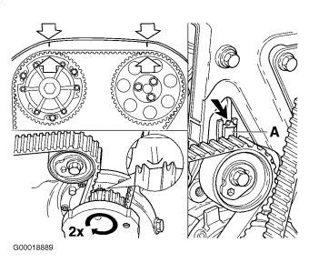 setup vvt   volvo       timing belt set tool  hold cam shaft