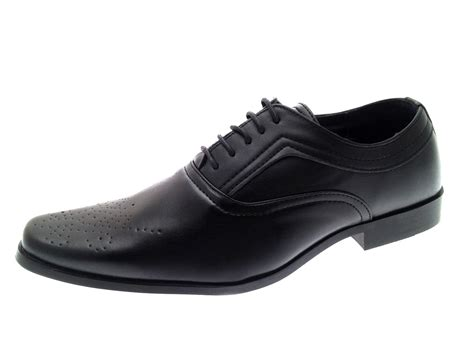 office comfort shoes mens boys faux leather formal shoes work office school