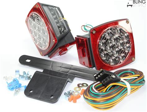 led boat trailer lights waterproof waterproof red submersible trailer boat led light w kits