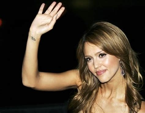 jessica alba wrist tattoo excitement n net alba tattoos