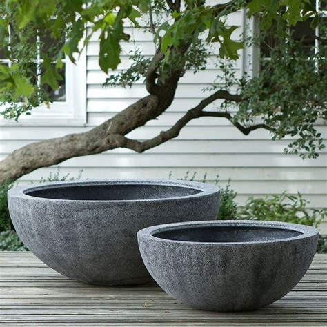 Large Outdoor Bowl Planters by Fiberstone Bowl Garden Holdings