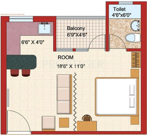 500 sq ft 1 bhk 1t apartment for sale in uday realcon east 500 sq ft 1 bhk floor plan image shubhkamna advert group