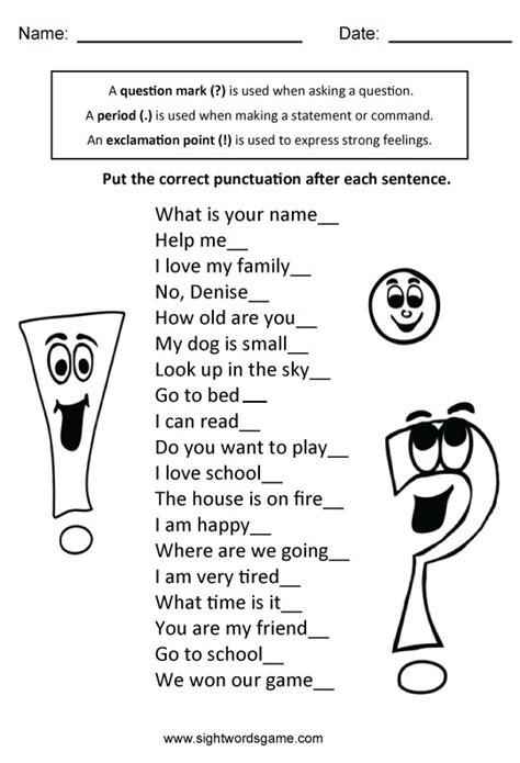 Types Of Sentences Worksheets 3rd Grade by Types Of Sentences