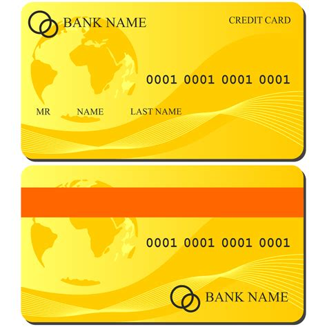 Credit Card Template Corel Vector For Free Use Credit Card Illustration