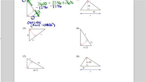 similar right triangles worksheet similar right triangles worksheet more difficult